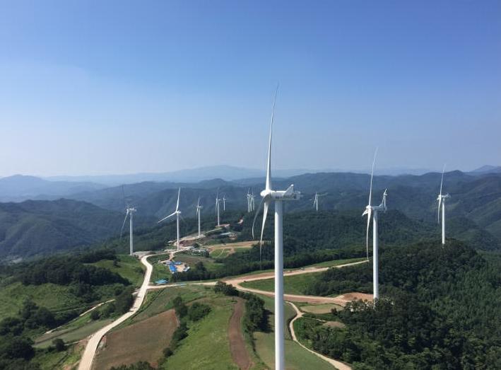 경북 영양 풍력발전단지 전경